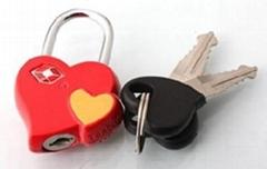 TSA  padlock with key