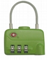 TSA 3-digit cable luggage lock 4