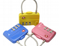 TSA 3-digit cable luggage lock 1