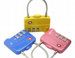 TSA 3-digit cable luggage lock