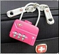 TSA 3-digit cable luggage lock 3