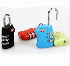 TSA  3-digit  travel bag padlock