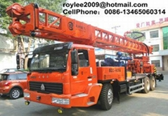 400meter with diesel power truck mounted water well drilling machine