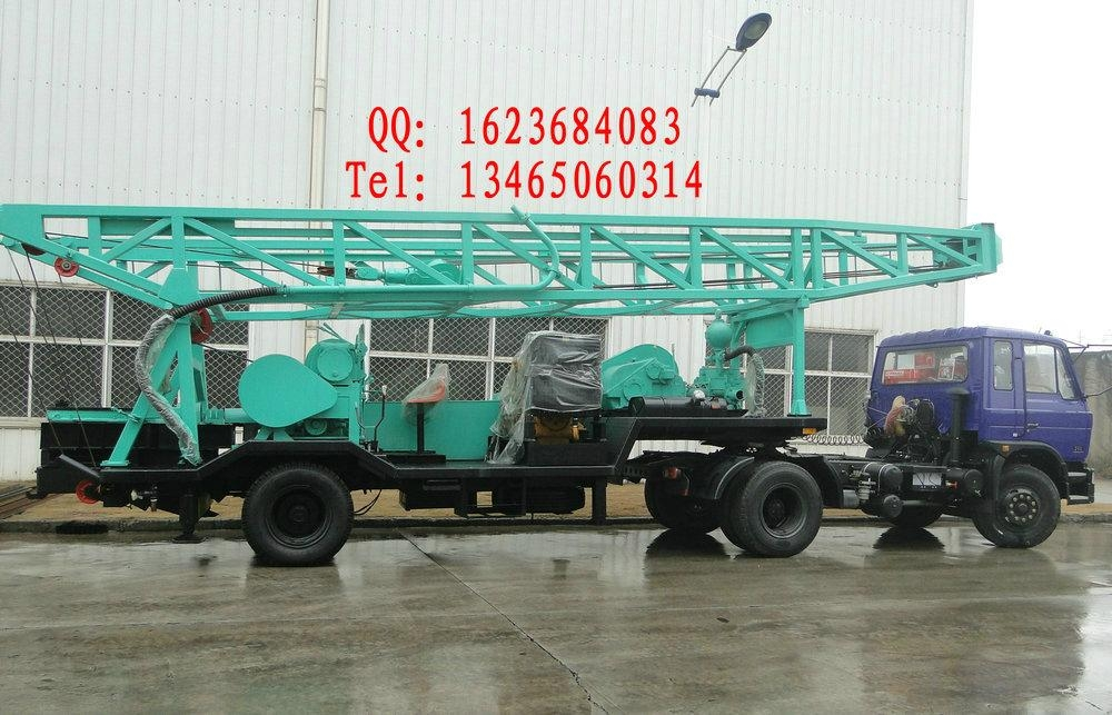 600m trailer mounted water well drilling rig  3