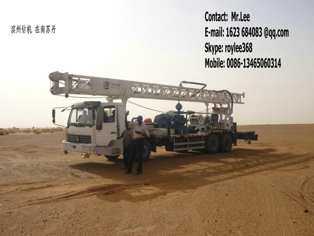 borehole drilling with truck chassis  2