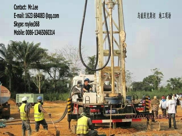 300m  truck mounted water well drill rigs 1