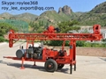 200m trailer mounted water well drilling