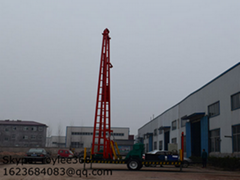 trailer type water well drilling rig