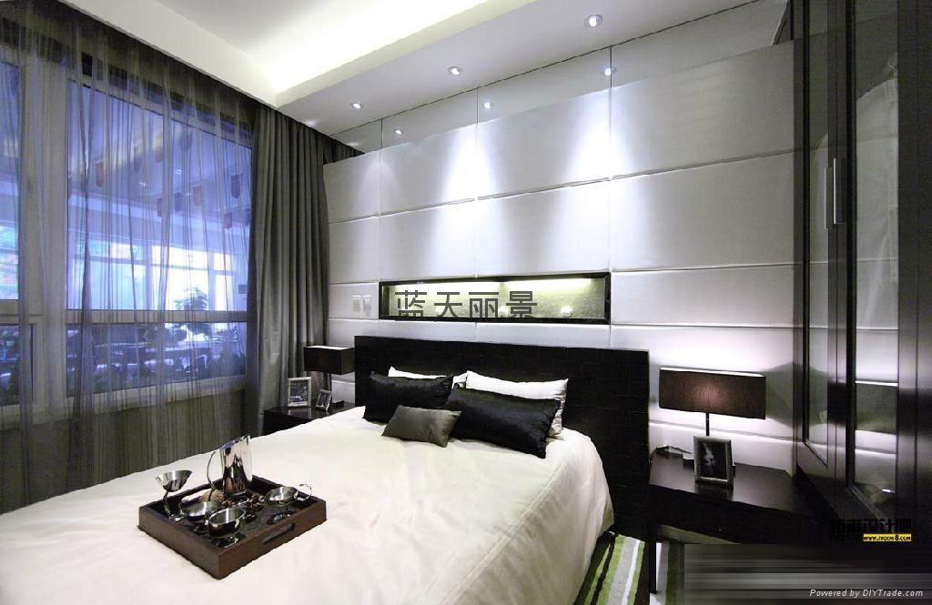 酒店宾馆电动布艺窗帘 2