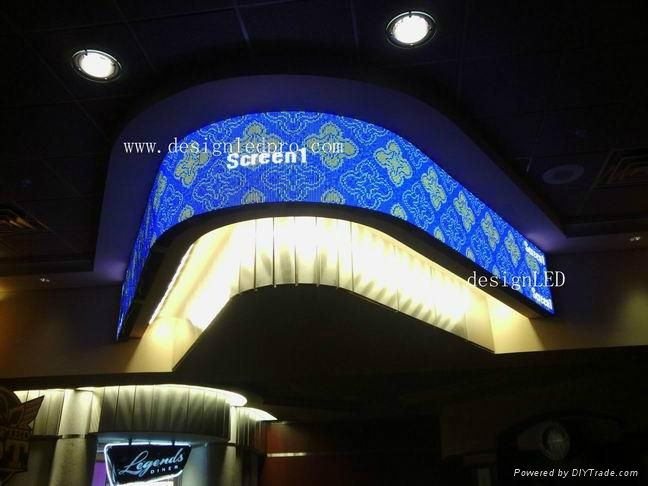Flexible led screen used for Casino