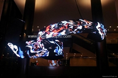 P10mm flexible led screen factory direct