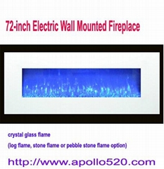 72-inch Electric Wall Mounted Fireplace