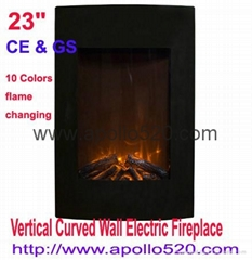 "23"" Vertical Curved Wall Electric Fireplace"