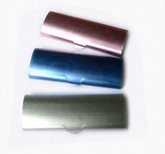 aluminum hard reading glasses case