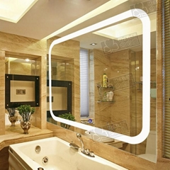 illuminated bathroom mirror with led light
