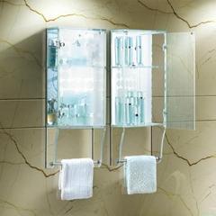 鋼化玻璃毛巾架櫃