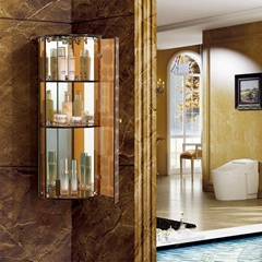triangle bathroom mirrored corner cabinet