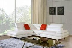 Modern Corner sofa with adjustable headrest