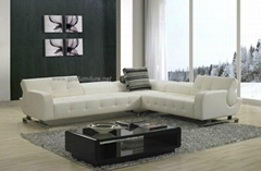 modern leather sofa with functioning