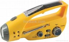 Solar Flashlight with radio