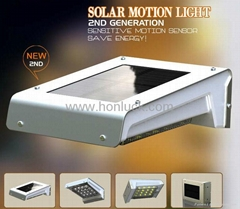 With Replaceable Battery Solar PIR Wall