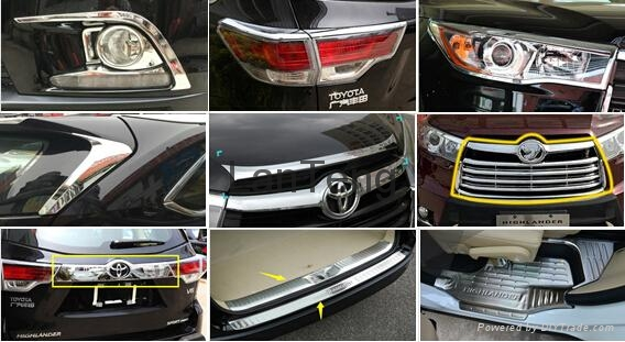 Chrome Accessories For Toyota Highlander 2015 China Manufacturer Car Exterior Decoration