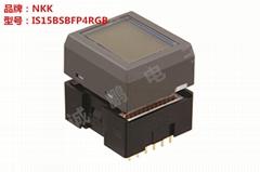 供應日本全新原裝NKK開關 IS15BSBFP4RGB多功能按鈕開關