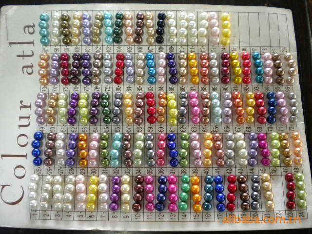 厂家直销 定做各种颜色尺寸,塑料仿珍珠,8mm每斤18元 2