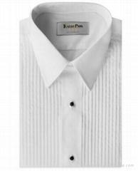 White Tuxedo Shirts Mandarin Wing tip collar man Shirts Wedding drss shirts
