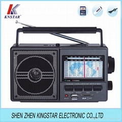 FP-901U FM AM SW USB 插卡收音机