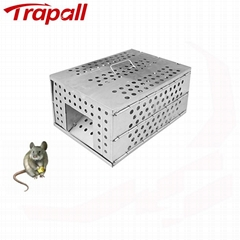 Humane Foldable Metal Mesh Rat Bait Station Live Catch Mouse Cage Trap