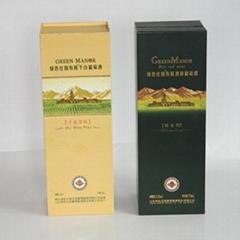 烟台绿色庄园红酒包装纸盒