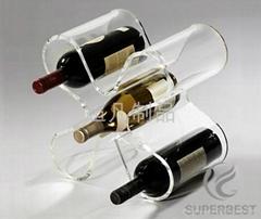 壓克力有機玻璃紅酒展示架