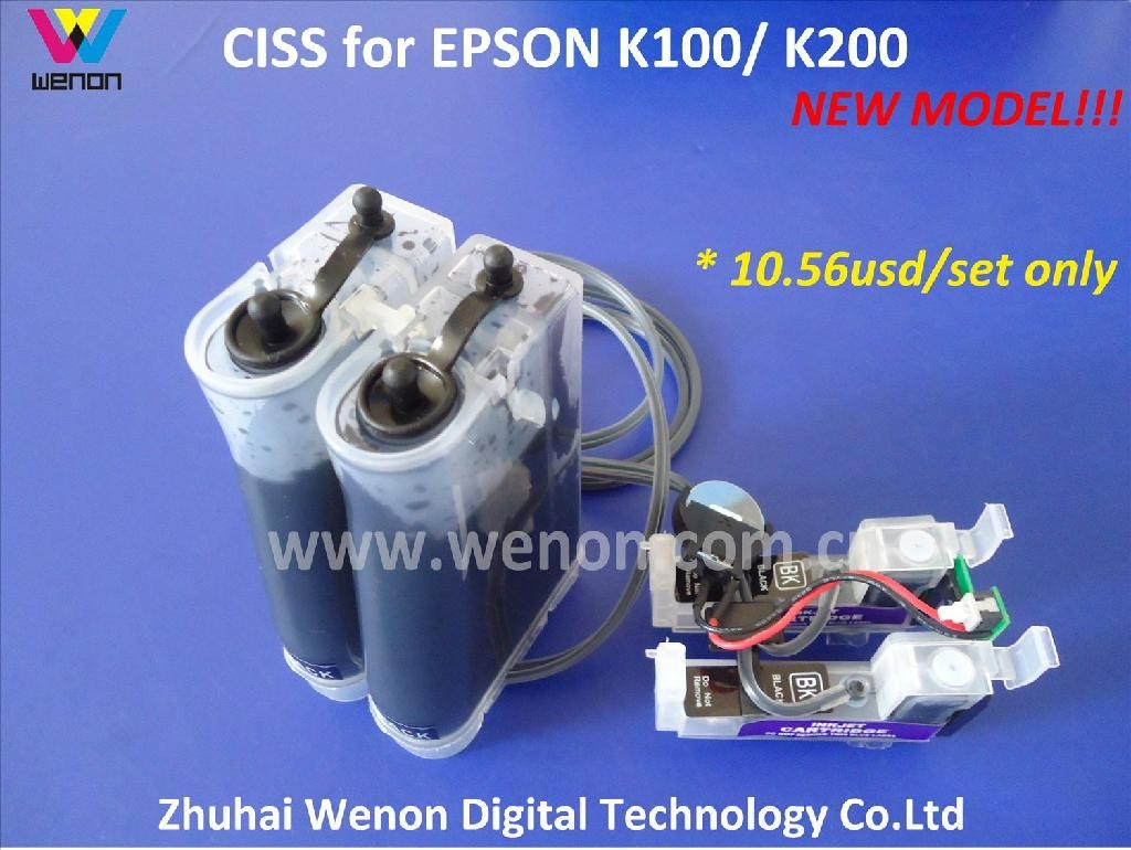 Continuous Ink supply System for Epson K100,K200 (T1371) with Chip 1