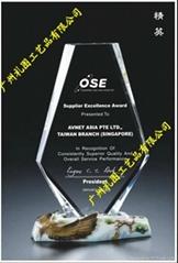 2011廣州  款水晶獎杯