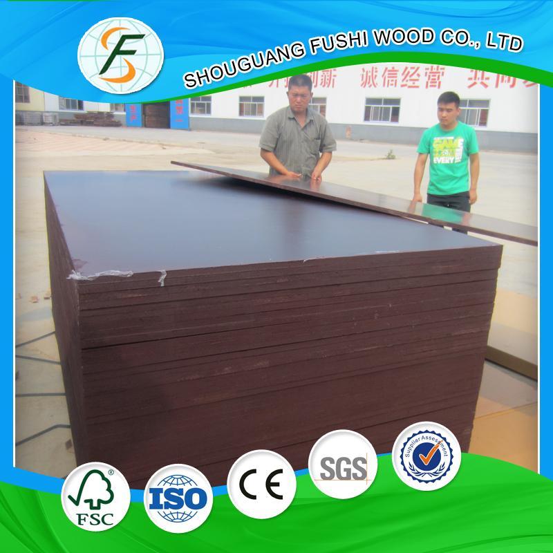 18mm poplar core film faced plywood 4