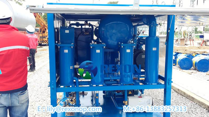 Double Stage Vacuum Transformer Oil Purifier 6000LPH 3