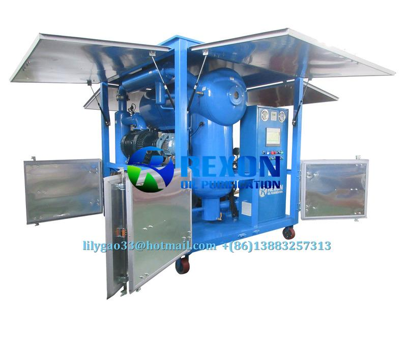 Weather-proof Double-stage Vacuum Transformer Oil Purifier  1
