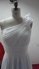 高檔熱銷希臘風格雪紡婚紗禮服