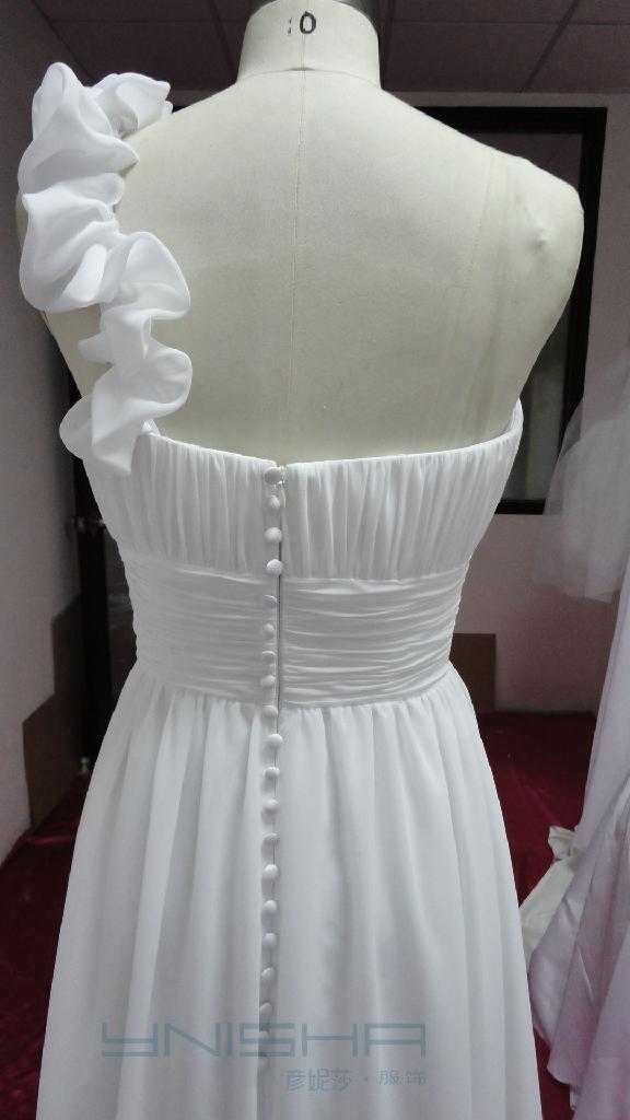 高檔熱銷希臘風格雪紡婚紗禮服 2