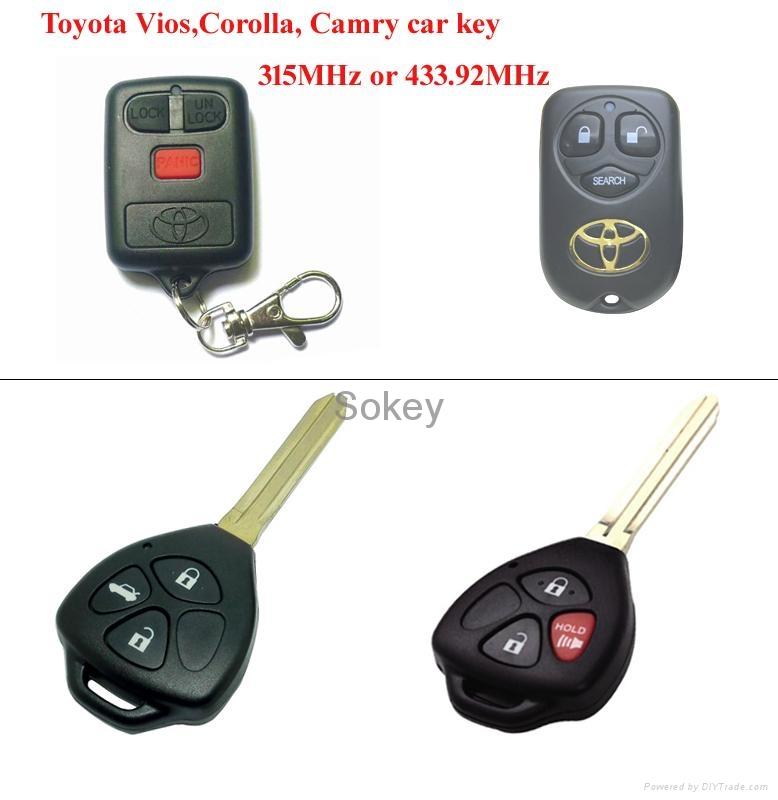 High quality Toyota corolla VIOS  car key,315MHz 3