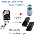 Aftermarket remote for CAME TOP432