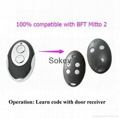 Bft MITTO 2 remote control duplicator/garage door remote key - rolling code