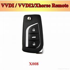 XK008 toyotastyle VVDI / Xhorse universal Remote Key, folding flip car key