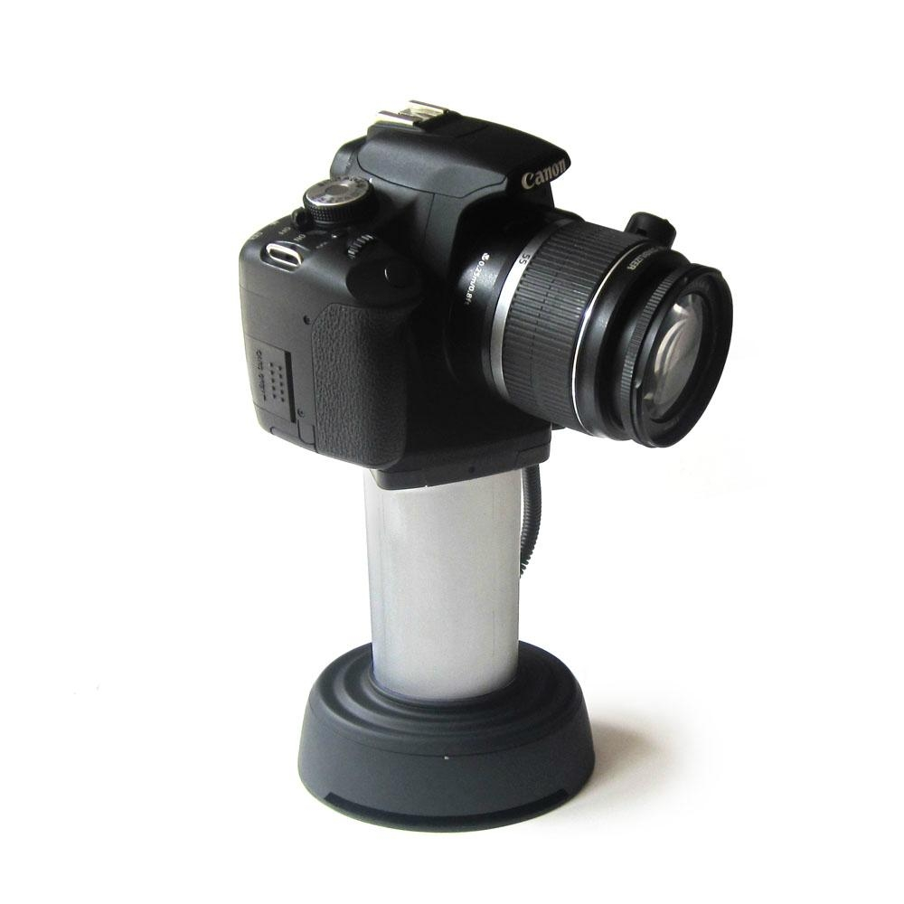 Security display stand for camera with alarm and charge for Camera and camera