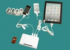 一拖10充電展示品防盜器|一拖10數碼產品充電防盜報警器