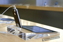 Acrylic Security display stand for Ipad+ Iphone /Ipod Crystal Display Dock