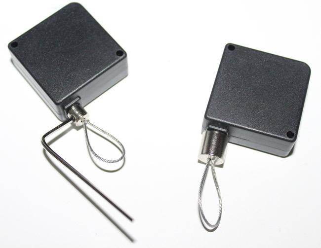 Anti-theft retractor pullbox  Retail Display Pull Box, Recoiler, Retactor Tether 2