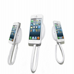 Wall Mounted Magnetic cell mobile phone display holder with charger  alarm