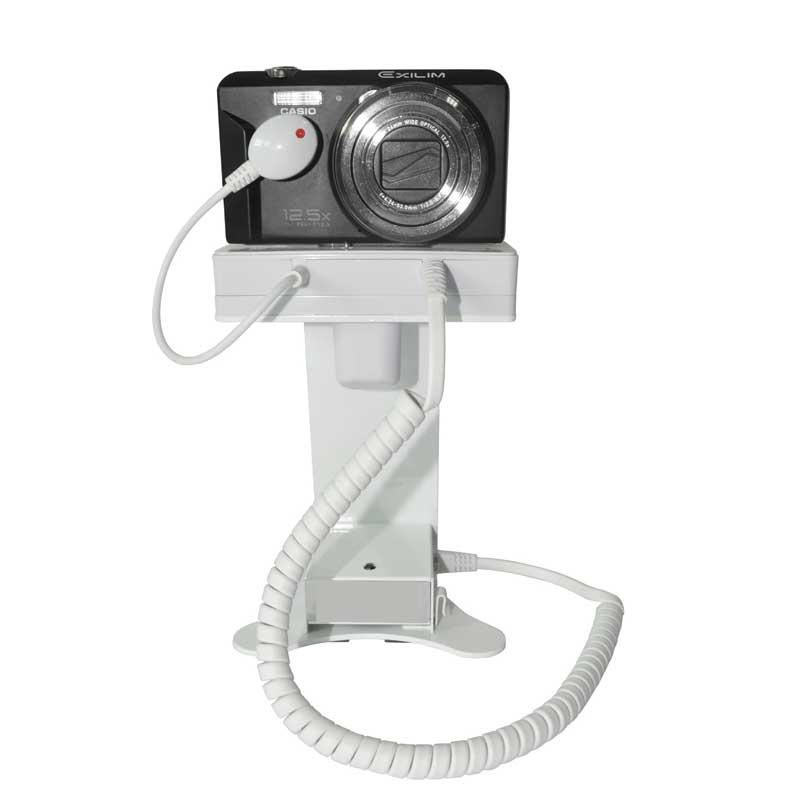 CAMERA SECURITY DISPLAY STAND FOR RETAIL STORES AND EXHIBITIONS ALARM HOLDER